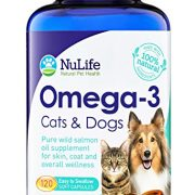 100-Pure-Omega-3-for-Dogs-and-Cats-Wild-Alaskan-Salmon-Oil-All-Natural-Fish-Oil-Supplements-for-Pets-For-Healthy-Skin-and-Shiny-Coat-No-Fishy-Smells-500mg-120-Easy-to-Swallow-Capsules-0