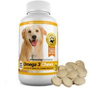 Amazing-Omega-3-Rich-Fish-Oil-100-Pure-All-Natural-Unscented-Premium-Food-Grade-Pet-Nutritional-Supplements-Antioxidant-Fatty-Acids-Promotes-Shiny-Coat-Bone-Joint-and-Brain-Health-120-Tasty-Chewable-T-0