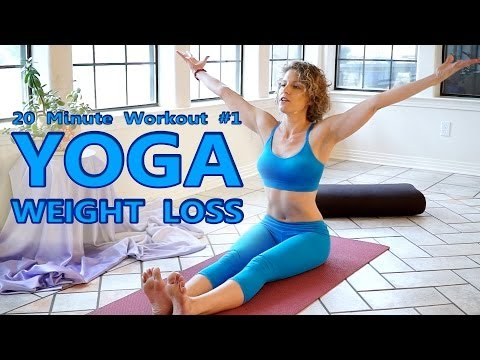 Yoga For Weight Loss & Flexibility Day 1 Workout – Fat Burning 20 Minute Beginners Class