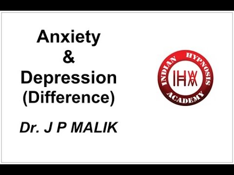 Anxiety and Depression – Difference (Hindi)
