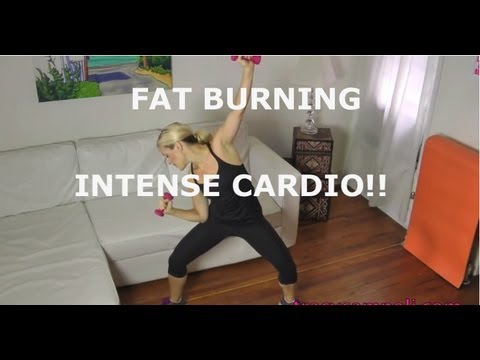 FAT BURNING INTENSE INTERVAL CARDIO WORKOUT! hiit weight loss workout