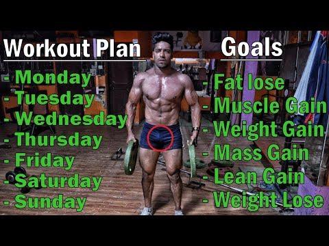 Full Week Workout Plan for – Fat Lose/Muscle Gain/Weight Gain/Lean Gain/Mass Gain