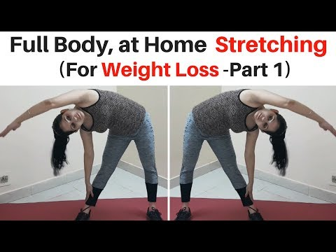 5 Minutes Beginners Workout – At Home Stretching Routine (Hindi) | Weight Loss | Session 1