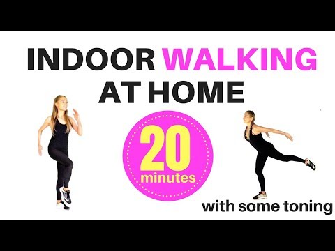 INDOOR WALKING AT HOME WORKOUT – WEIGHT LOSS WALK WORKOUT – WALKING EXERCISE AND FULL BODY TONING