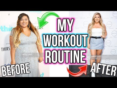 MY WORKOUT ROUTINE!! How I Lost 60+ Pounds!