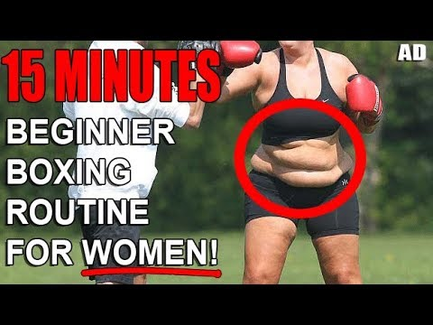 Weight Loss Boxing Routine For Women! (BEGINNERS)