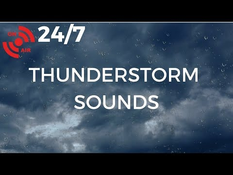 THUNDER & RAIN Sounds for Sleeping, Relaxing, ASMR & Insomnia Relief: Gentle THUNDERSTORM (24/7)