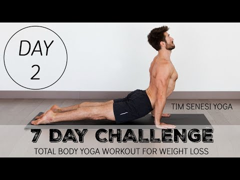 Total Body Yoga Workout for Weight Loss 7 Day Challenge DAY 2