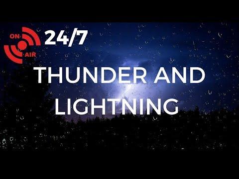 THUNDERSTORM Sleep Sounds | Heavy RAIN Sounds, THUNDER & LIGHTNING at Night (24/7 Storm)