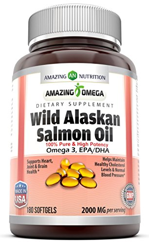 Amazing omega wild alaskan salmon oil 1000mg of salmon for Salmon fish oil