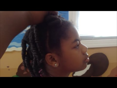 My Daughter Girl's Eczema Flaky Scalp, Summer Natural Hair MOMMY RELAXED