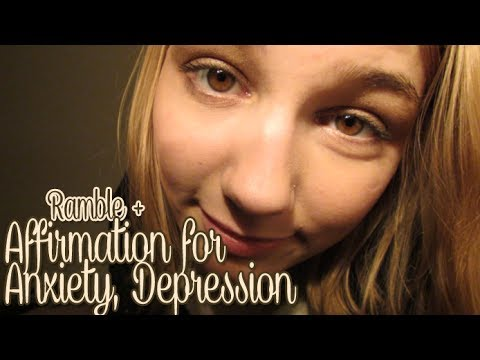 [BINAURAL ASMR] Ramble/Affirmation for Anxiety, Depression (close up ear-to-ear whispering)