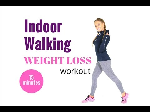 HOME WORKOUT – 15 MINUTE WALKING WORKOUT FOR WEIGHT LOSS  – the easy way to burn calories at home