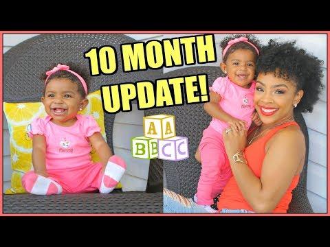 Skylar's 10 Month Update  Crawling, Teeth,Trying to Walk, Eczema, Allergies