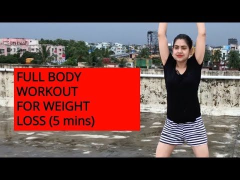 FULL BODY WORKOUT AT HOME FOR FAST WEIGHT LOSS | 5 MINUTES BEST BEGINNERS HIIT WORKOUT FOR FAT LOSS