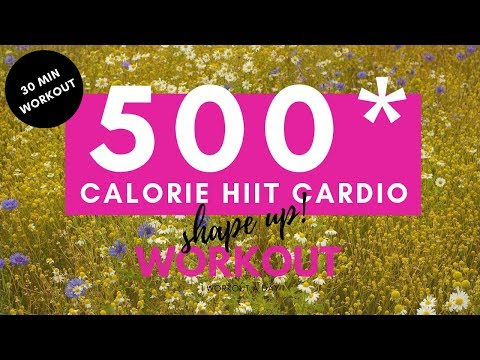 HIIT Cardio Workout To Loose Weight & Burn Belly Fat – 500 CALORIE BURN!!!