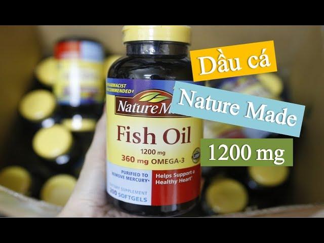 DẦU CÁ NATURE MADE FISH OIL Omega 3 1200MG 200 VIÊN,Dầu Cá Omega 3 Nào Tốt,dầu cá hồi omega 3 của mỹ