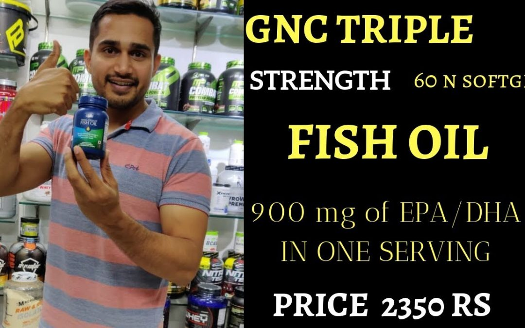 Gnc triple strength fish oil 60 softgels   omega-3 supplement   fish oil review in hindi  