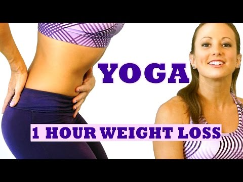 1 Hour Weight Loss Yoga Workout For Beginners. Full Body Yoga Class At Home