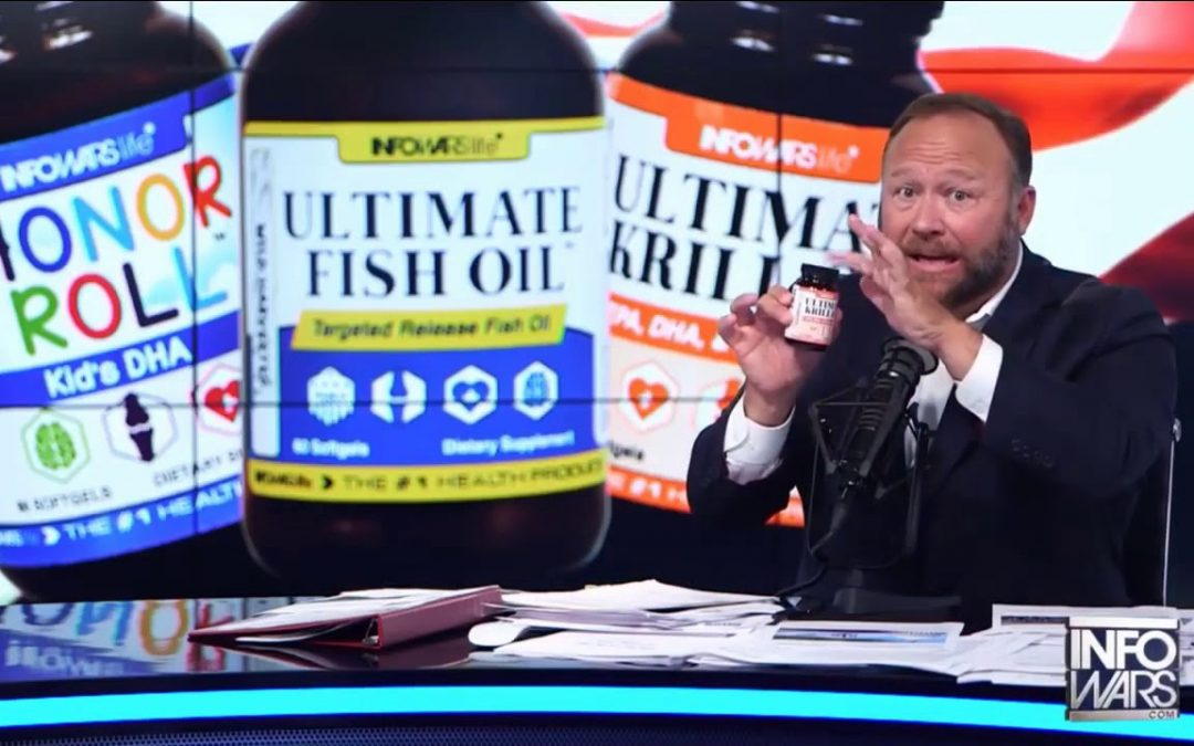 Infowars Newest product Ultimate Fish Oil.