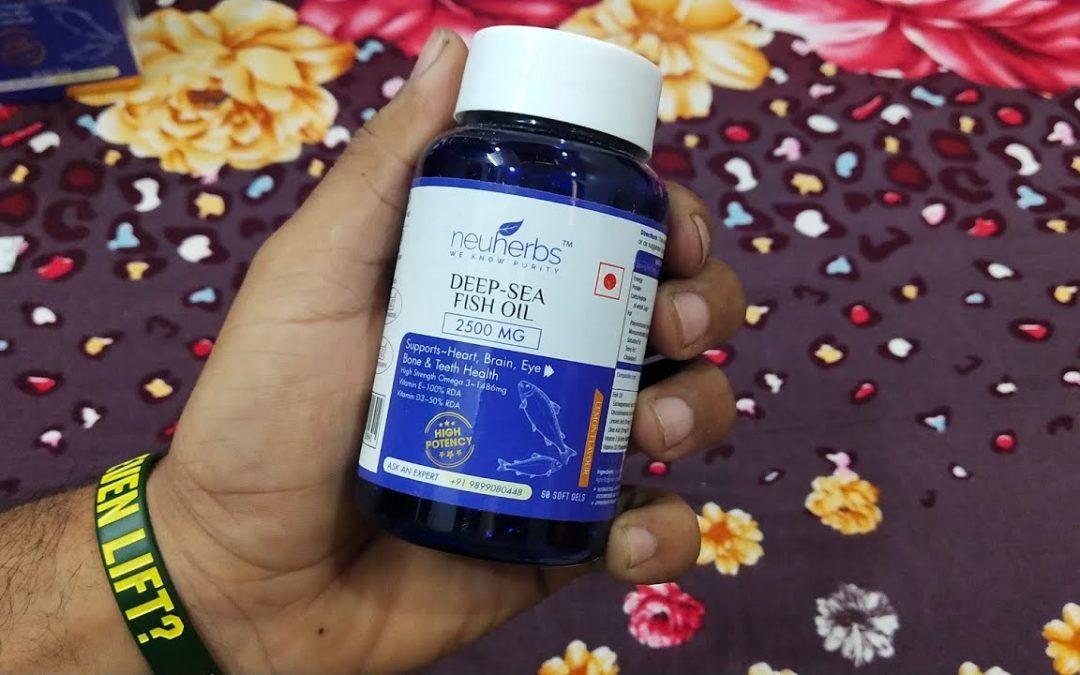 Neuherbs Deep Sea Fish Oil 2500 mg (892 mg EPA and 594 mg DHA per serving)- 60 Soft Gel