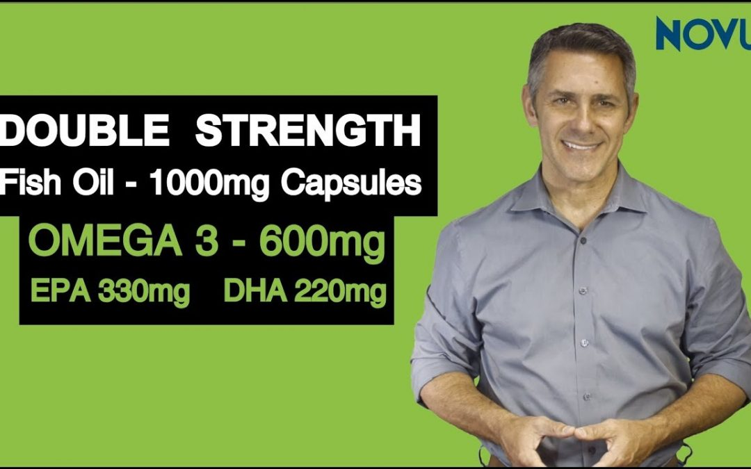 Omega 3 Fish Oil 1000Mg Double Strength Epa & Dha For Heart, Bones & Joint Health
