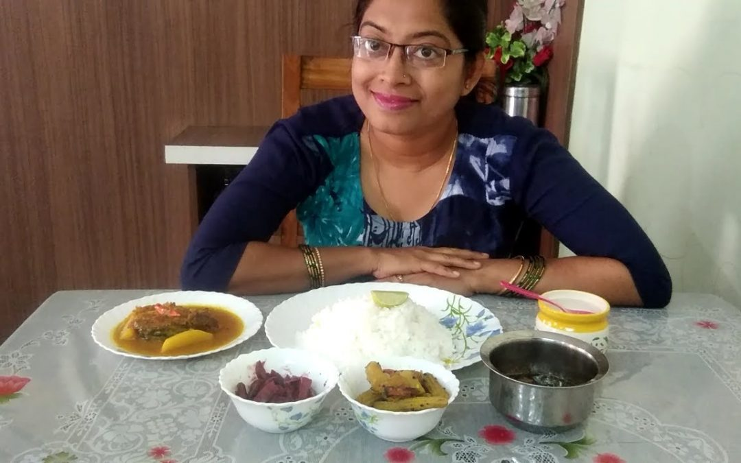 Eating show with sound/Eating katla kalia, data chachori, veg curry, fish oil fry, rice/ #eatingshow