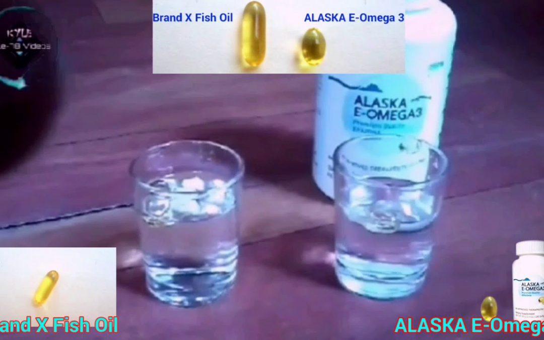 ALASKA E-Omega 3 Vs. Brand X Fish Oil Product Demo video presentation.▶04.13 HD