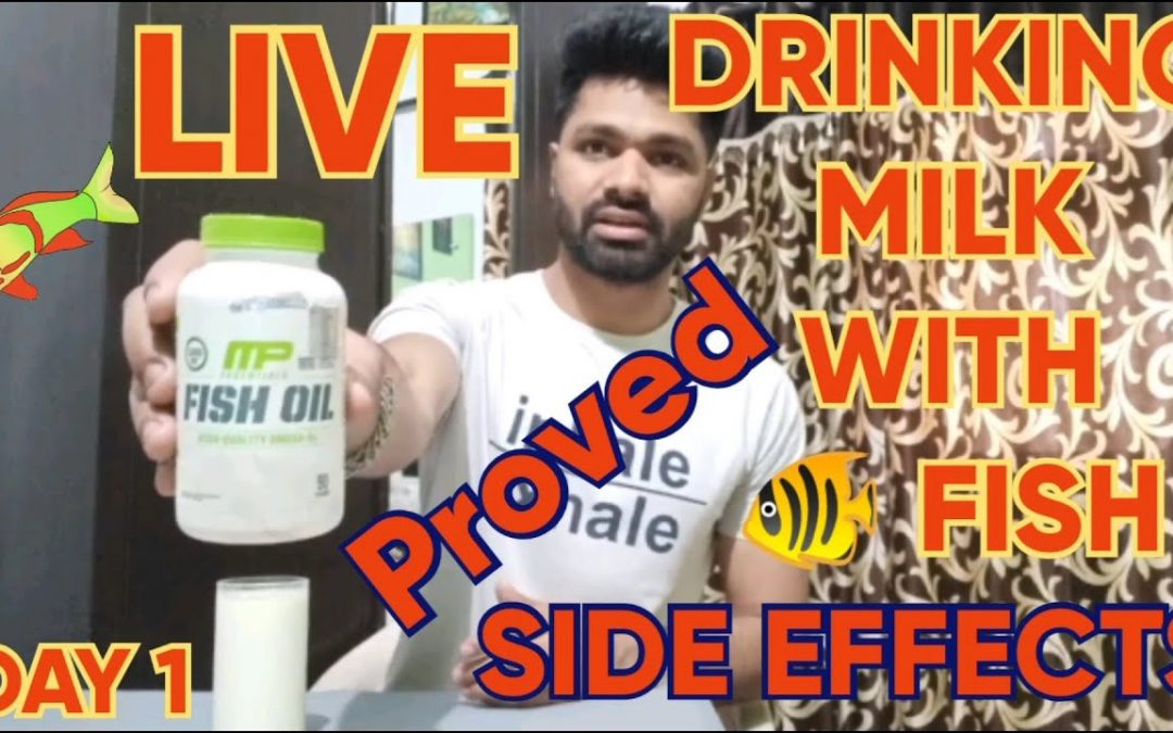 *LIVE* DRINKING MILK WITH FISH OIL | DAY 1 | Is it safe to drink milk with fish? Skin problem?