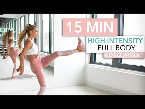 15 MIN FULL BODY HIIT WORKOUT – burn lots of calories / No Equipment I Pamela Reif