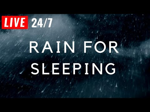 🔴 Soothing Rain to Sleep Instantly, Rain Sounds for Sleeping, insomnia, Relax. Raining at Night