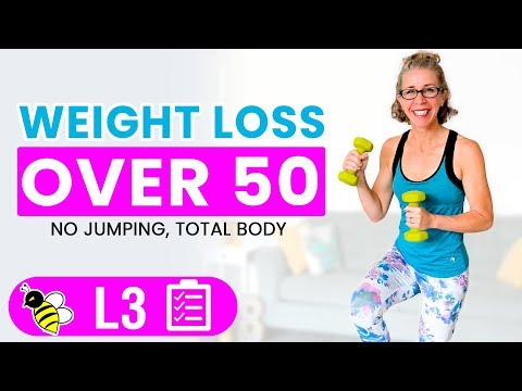 30 Minute LOW IMPACT Cardio + Weights WEIGHT LOSS Workout for Women over 50